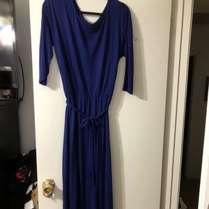 Old Navy navy cotton maxi dress